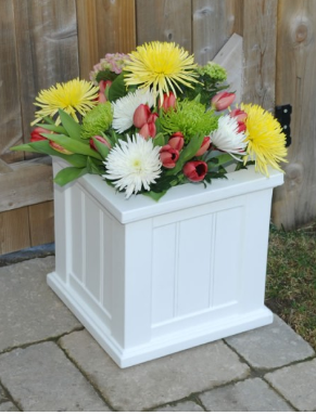 Mayne - Cape Cod Patio Planter 16x16 - White