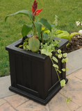 Mayne - Cape Cod Patio Planter 14x14 - Black