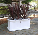 Mayne - Cape Cod Patio Planter 24x11 - Black