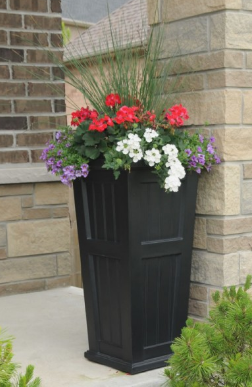 "Mayne - Cape Cod 32"" Tall Planter - Black"