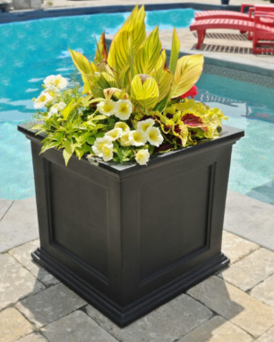 Mayne 5825-B | Fairfield Patio Planter 20x20 Black – Big