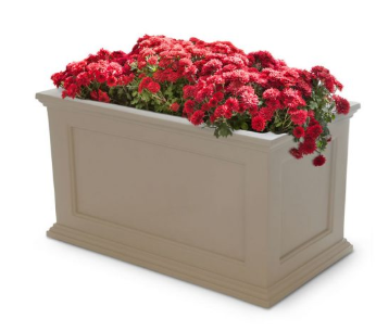 "Mayne - Fairfield Patio Planter 20"" x 36"" - White"