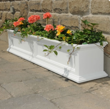 Mayne - Fairfield 5' Window Box - White