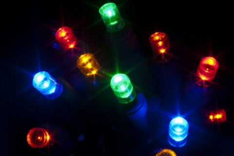 "Seasonal Source - 70 5MM Multi Color LED Holiday Lights, 4"" Spacing -  - Standard Strands  - Big Frog Supply"