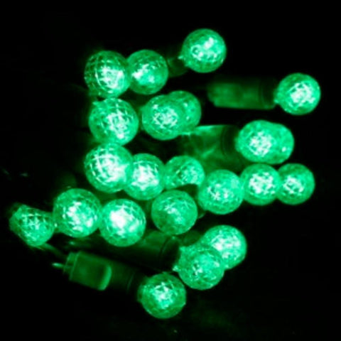 "Seasonal Source - 70 G12 Green LED String Lights, 4"" Spacing -  - Standard Strands  - Big Frog Supply - 1"