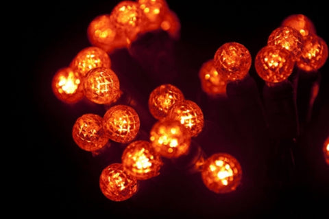 "Seasonal Source - 70 G12 Orange LED String Lights, 4"" Spacing -  - Standard Strands  - Big Frog Supply"