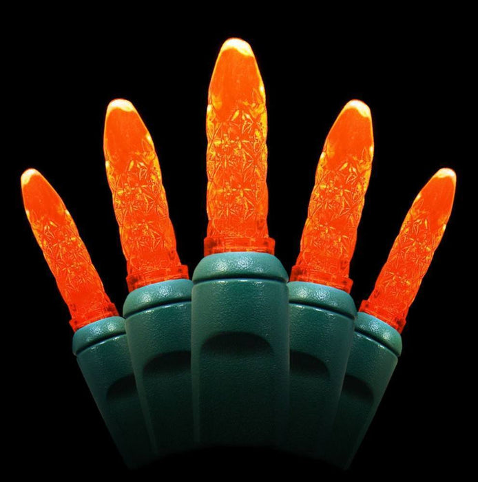 "Seasonal Source - 70 M5 Orange LED Holiday Lights, 4"" Spacing -  - Standard Strands  - Big Frog Supply"