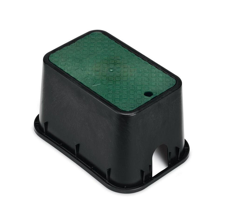 Rain Bird - PVBMST - 10 in. PVB Mini Standard Valve Box - Black Body & Drop-in Green Lid -  - Irrigation  - Big Frog Supply