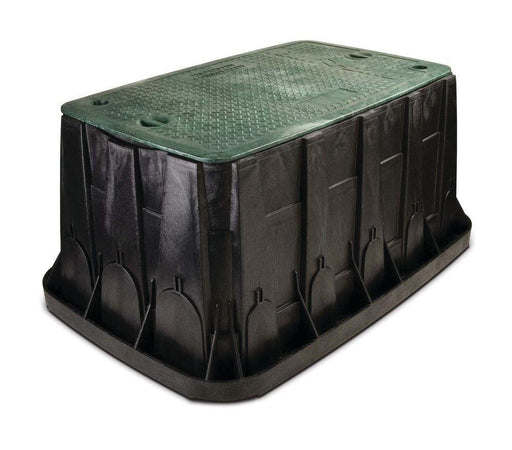 Rain Bird - VBMAXH - Maxi Jumbo Valve Box - Black Body With Green Lid + 2 Locks -  - Irrigation  - Big Frog Supply