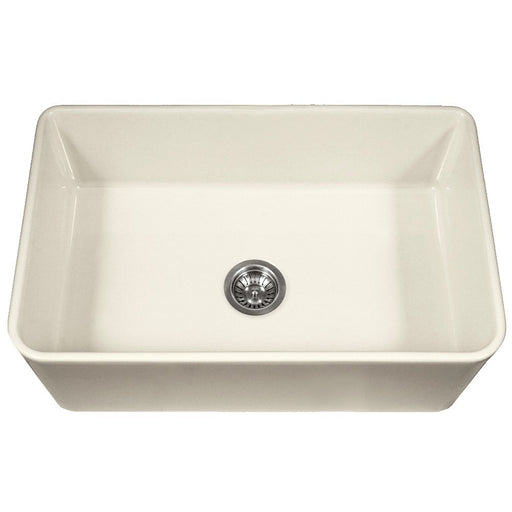 Houzer - Houzer PTS-4300 Platus Series 33-Inch Apron-Front Fireclay Single Bowl Kitchen Sink - Biscuit - Kitchen Sink - Apron Front  - Big Frog Supply - 1