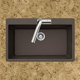 Houzer - Houzer V-100 Quartztone Series Granite Topmount Large Single Bowl Kitchen Sink -  - Kitchen Sink - Topmount  - Big Frog Supply - 9