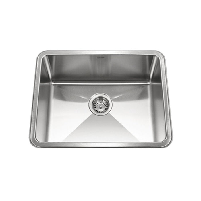 Houzer - Houzer NOS-4100 Nouvelle Series 25mm Radius Undermount Stainless Steel Single Bowl Kitchen Sink - Default Title - Kitchen Sink - Undermount  - Big Frog Supply - 1