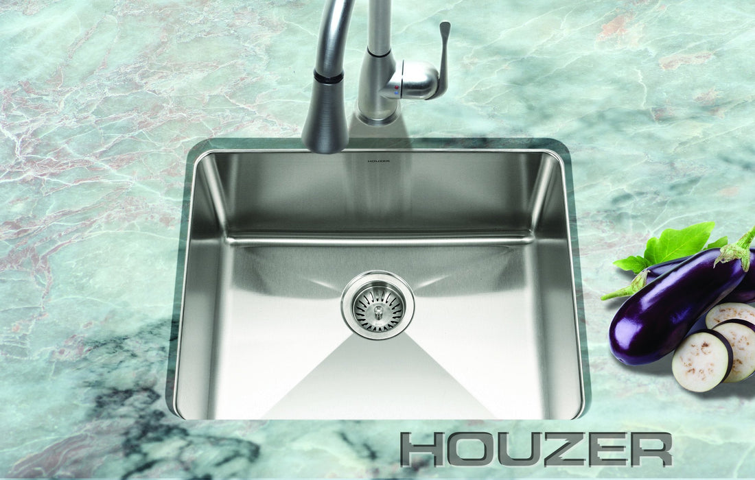 Houzer - Houzer NOS-4100 Nouvelle Series 25mm Radius Undermount Stainless Steel Single Bowl Kitchen Sink -  - Kitchen Sink - Undermount  - Big Frog Supply - 2
