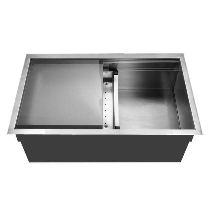 Houzer - Houzer NVS-5200 Novus Series Dual Level Undermount Stainless Steel Large Single Bowl Kitchen Sink with Sliding Platform - Default Title - Kitchen Sink - Undermount  - Big Frog Supply - 1