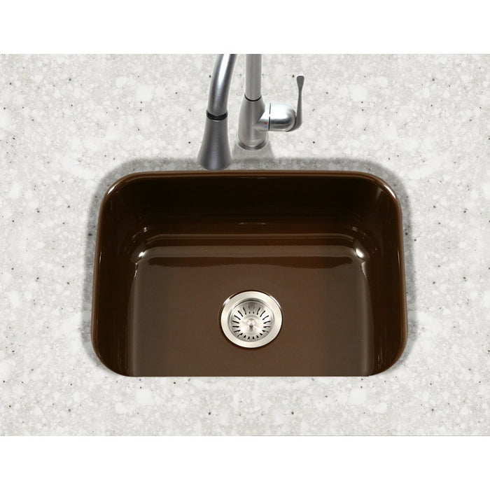Houzer - Houzer PCS-2500 Porcela Series Porcelain Enamel Steel Undermount Single Bowl Kitchen Sink -  - Kitchen Sink - Undermount  - Big Frog Supply - 10