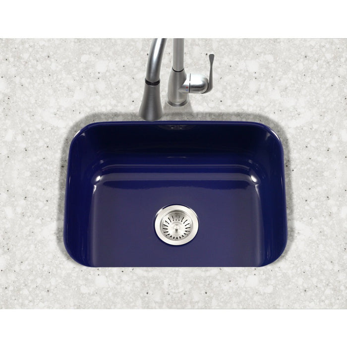 Houzer - Houzer PCS-2500 Porcela Series Porcelain Enamel Steel Undermount Single Bowl Kitchen Sink -  - Kitchen Sink - Undermount  - Big Frog Supply - 14