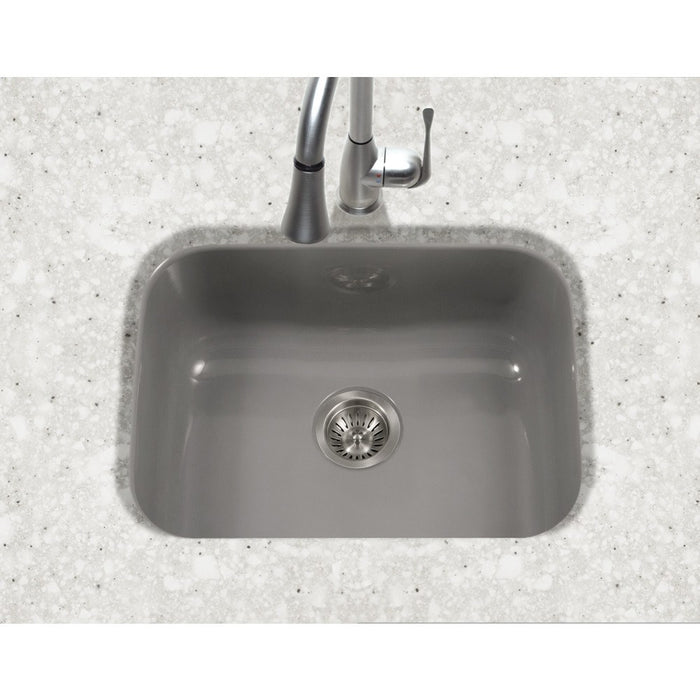 Houzer - Houzer PCS-2500 Porcela Series Porcelain Enamel Steel Undermount Single Bowl Kitchen Sink -  - Kitchen Sink - Undermount  - Big Frog Supply - 15
