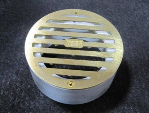 NDS - 4 Inch Round Satin Brass Grate -  - Lawn and Garden  - Big Frog Supply
