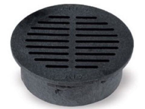 NDS - 6 Inch Black Round Grate -  - Lawn and Garden  - Big Frog Supply