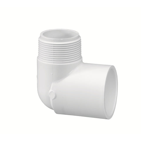 "Lasco - Schedule 40 90 Degree MPT x Slip Street Elbow - 1/2"" - Lawn and Garden  - Big Frog Supply"