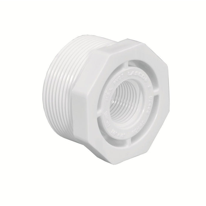 "Lasco - Schedule 40 MPT x FPT Threaded Reducer Bushing - 1/2"" - Lawn and Garden  - Big Frog Supply"