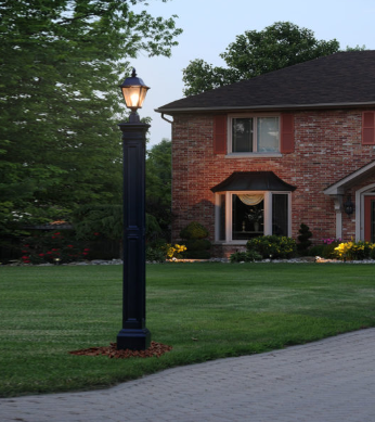 Mayne - Liberty Lamp Post With Mount - Black