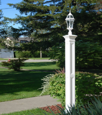 Mayne - Liberty Lamp Post With Mount - White