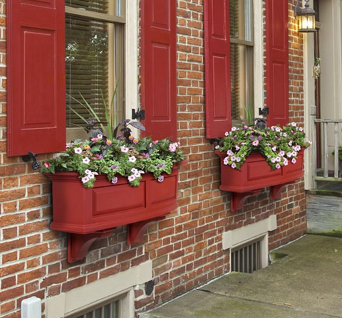 Mayne - Nantucket Window Box 3' - Red