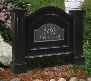 Mayne - Nantucket Address Sign - Black