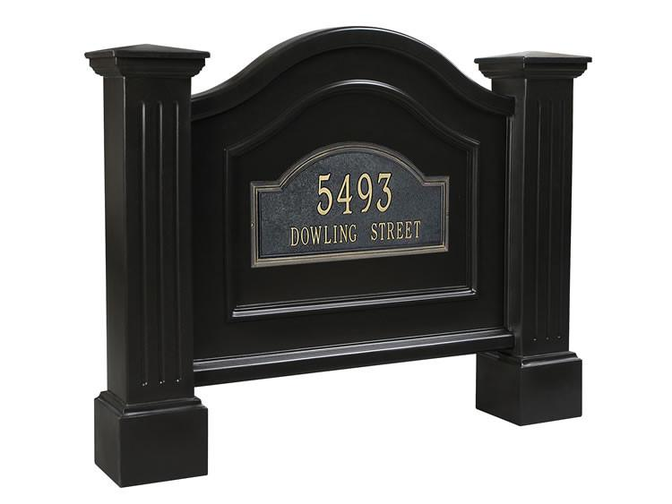 Nantucket Address Sign in Black