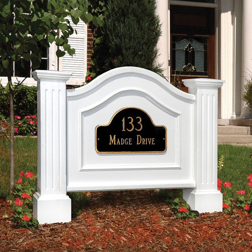 Nantucket Address Sign in White