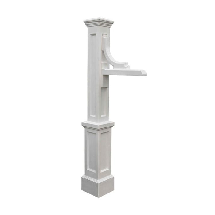 Woodhaven Address Sign Post White