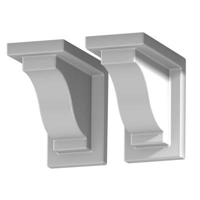 Yorkshire Decorative Brackets (2pack), White