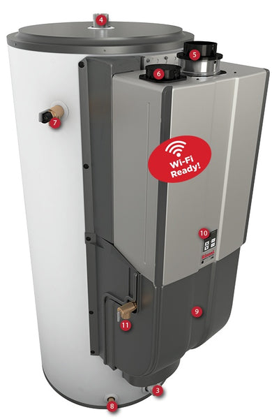 Rinnai Chs199100in Demand Duo Tankless Hybrid Water Heater