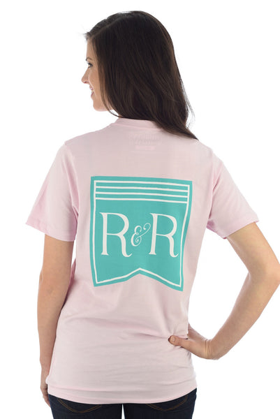 RIBBONS LOGO TEE IN PINK