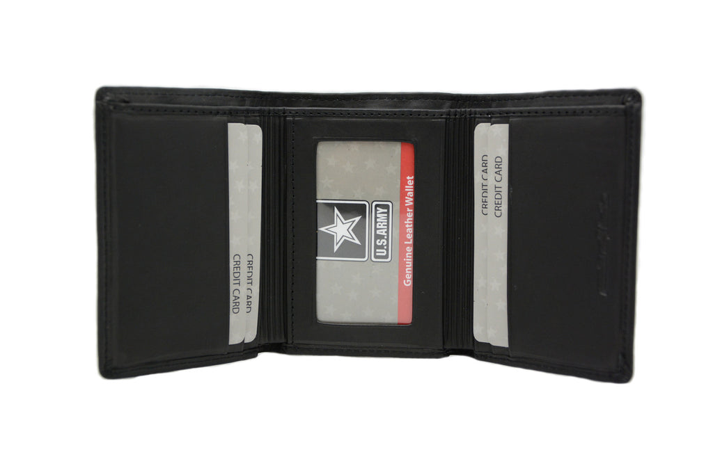 U.S. Army Leather Trifold Wallet (12pc case)