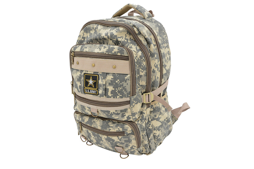 "U.S. Army 18"" Large Canvas Backpack"