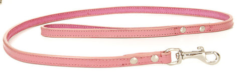 Pale Pink Leather Lead