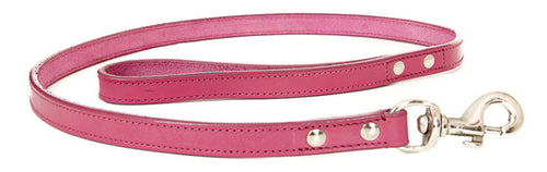 Dark Pink Leather Lead