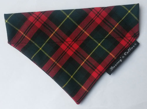 Red and Green Tartan Bandana