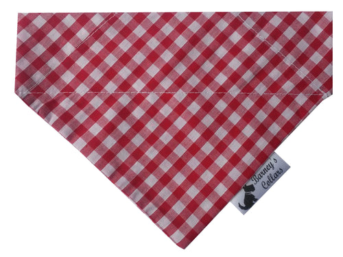 Red Gingham Bandana