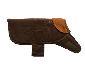 chestnut wax dog coat