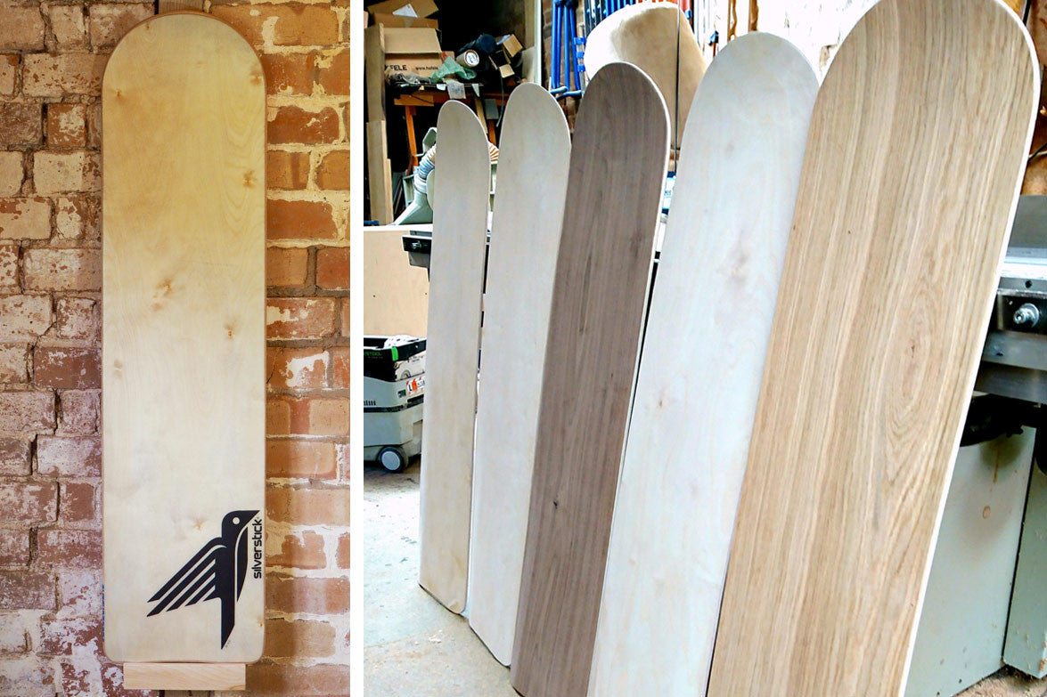 Butch Wooden Belly Boards Collaboration Silverstick Board