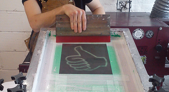 silverstick hand printed thumbs up