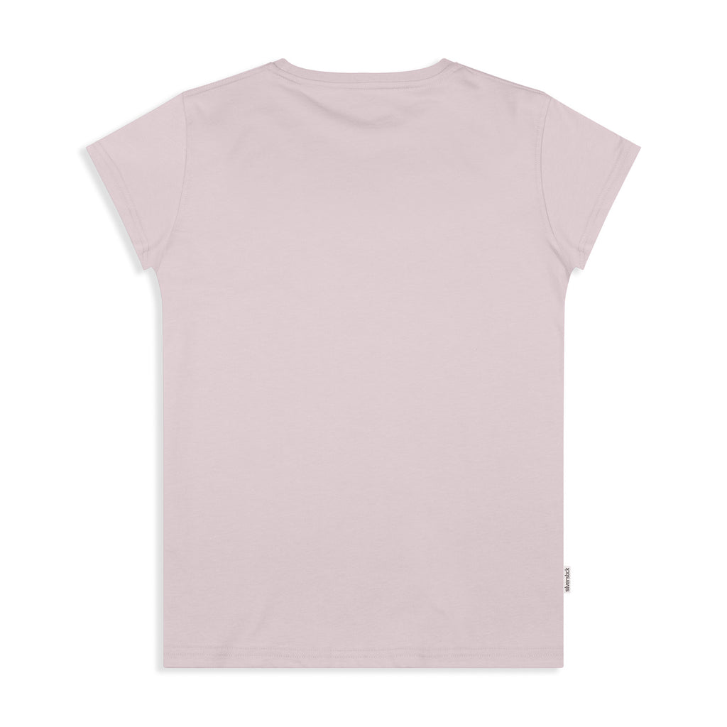 silverstick womens adventure organic cotton t shirt pale lilac back