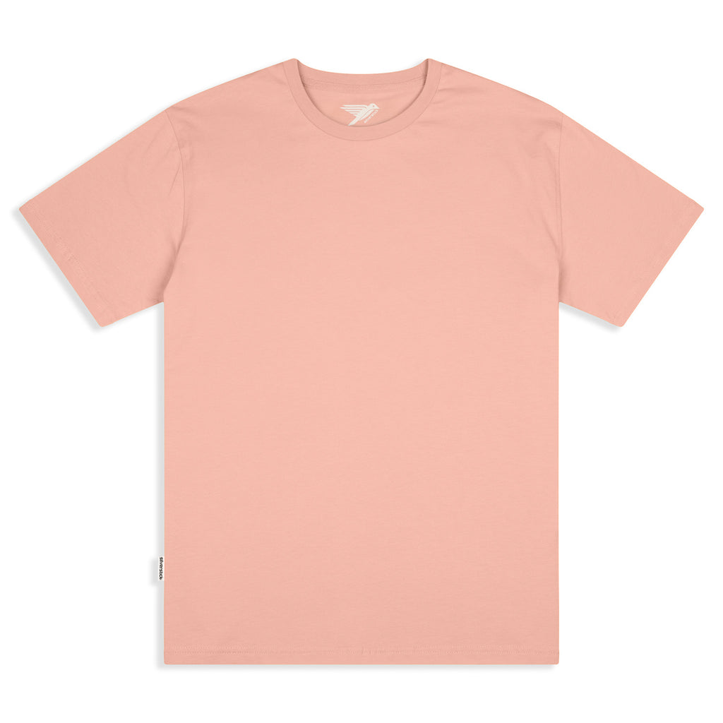 Silverstick Mens Adventure Organic Cotton T Shirt Antique Pink Front