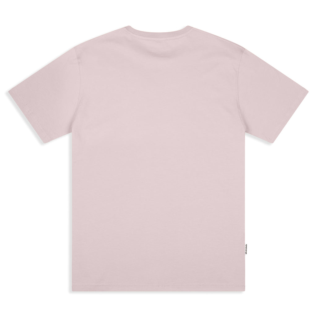 Silverstick Mens Adventure Organic Cotton T Shirt Pale Lilac Back