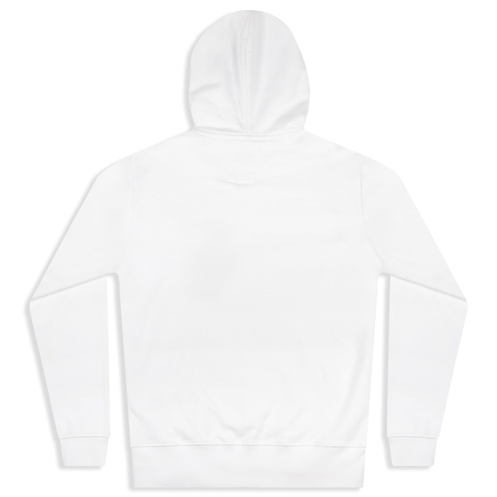 silverstick mens organic cotton hoodie ellerton white back