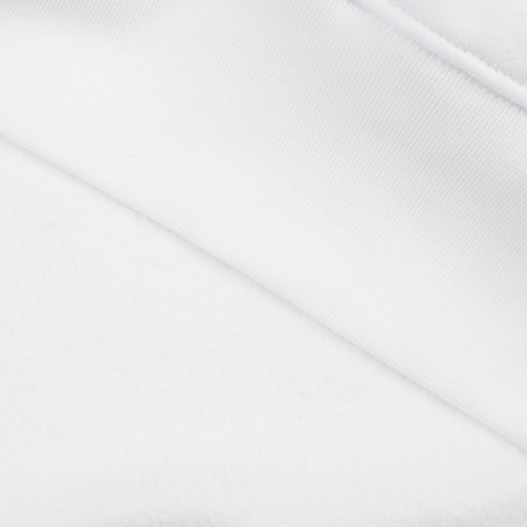 silverstick mens organic cotton hoodie ellerton white brushed fabric