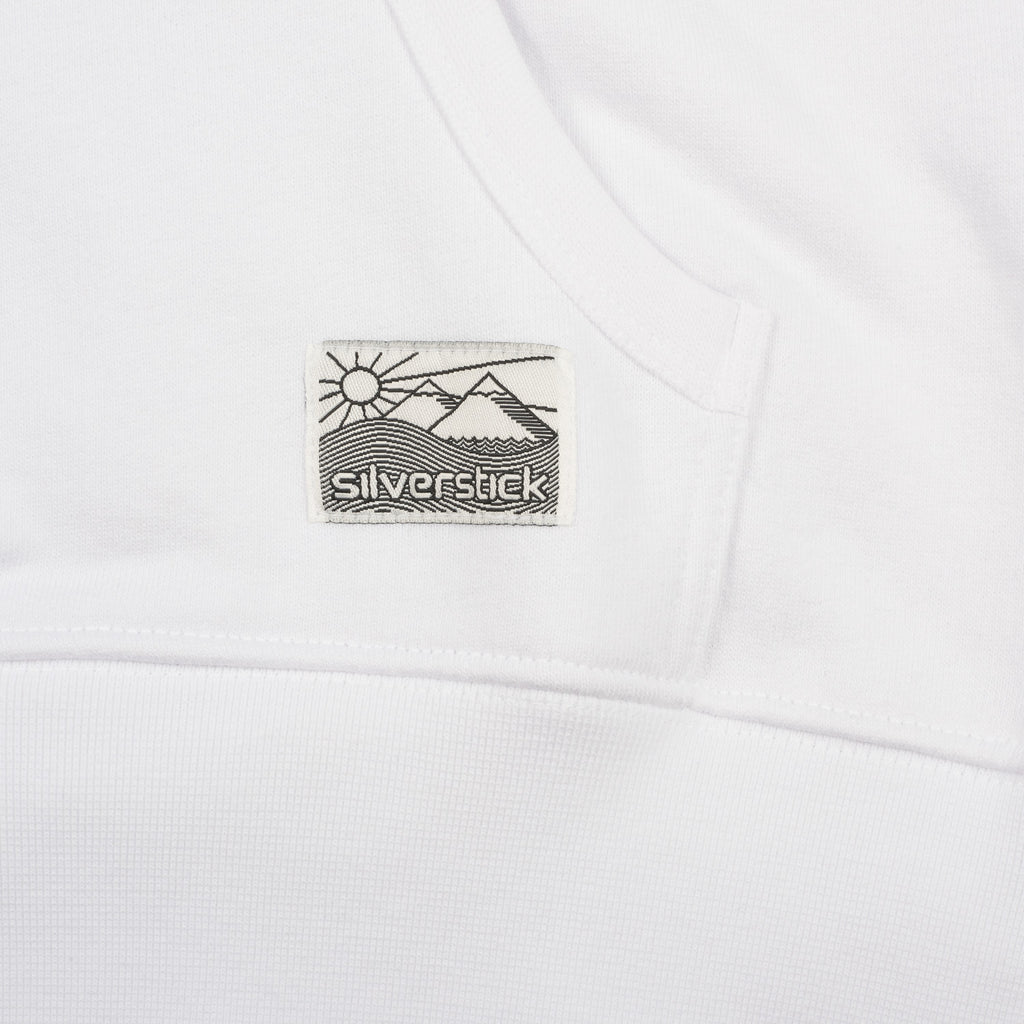 silverstick mens organic cotton hoodie ellerton white patch label
